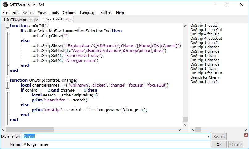SciTE Lua Scripting Extension